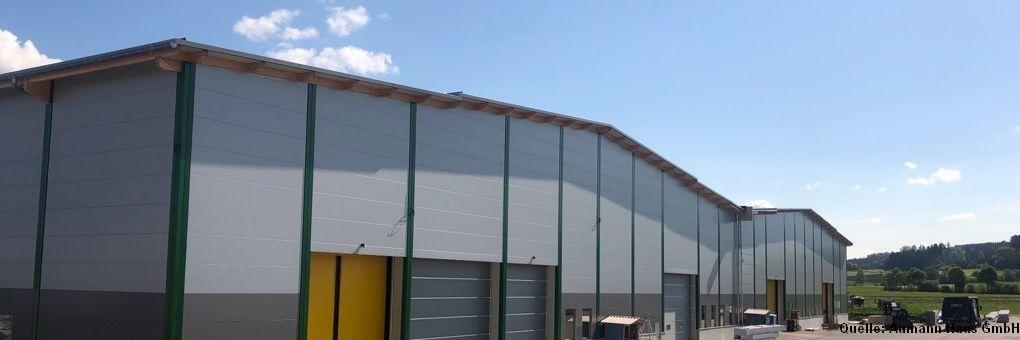 Die neue Produktionshalle von Aumann Haus